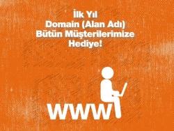 İlk Yıl Domain (Alan Adı) Bütün Müşterilerimize Hediye!